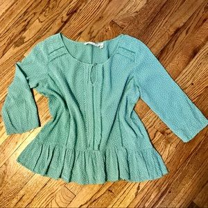 LC Lauren Conrad Peplum 3/4  Sleeve Blouse